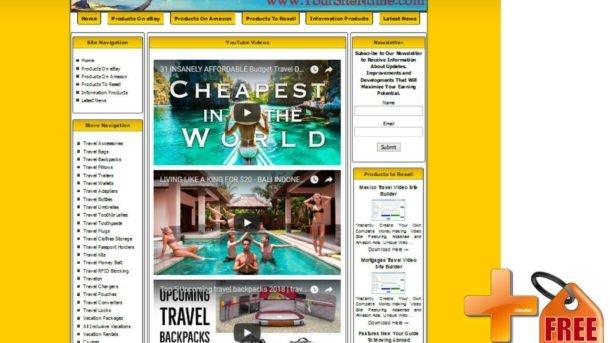 Ebay Travel Niche Website - Use With Clickbank, Adsense, Amazon