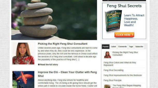 FENG SHUI SECRETS WEBSITE & STORE - FREE DOMAIN - PRO DESIGN - VIDEO PAGES