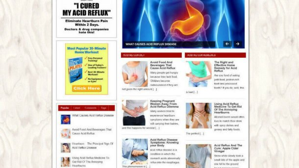 GET RID OF REFLUX HELP WEBSITE & STORE - PROFESSIONAL THEME + VIDEO PAGES