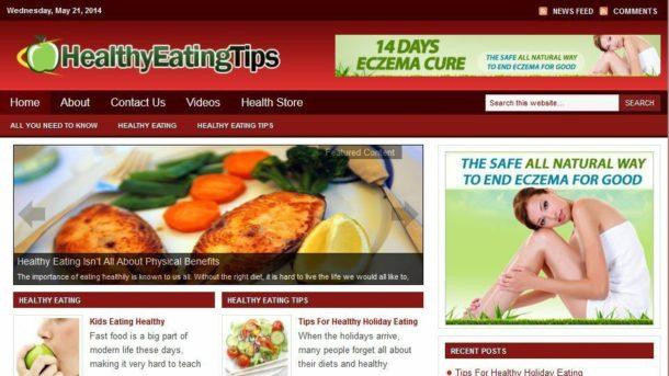 Healthy Eating / Balanced Diet Niche WordPress Website For Sale! Free Hosting