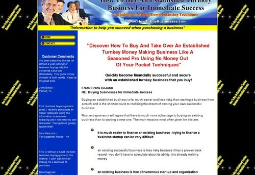 How To Buy Businesses - No Money Down Business Financing