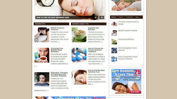 INSOMNIA REMEDIES WEBSITE & BLOG WITH AFFILIATES AND FREE DOMAIN + HOSTING