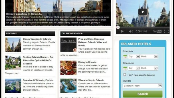 ORLANDO VACATION PLANNING WEBSITE FOR SALE! SELL FLIGHTS, HOTELS, CAR RENTAL +++