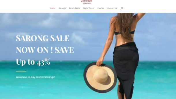 Online Internet Women's Sarongs Drop Ship Business For Sale Start Selling Now