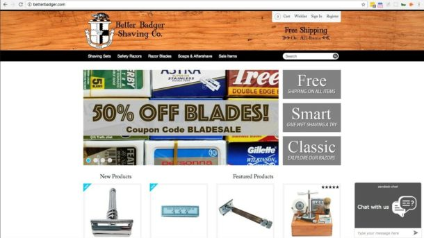 Shaving e-commerce business - Safety Razors and blades shaving brushes
