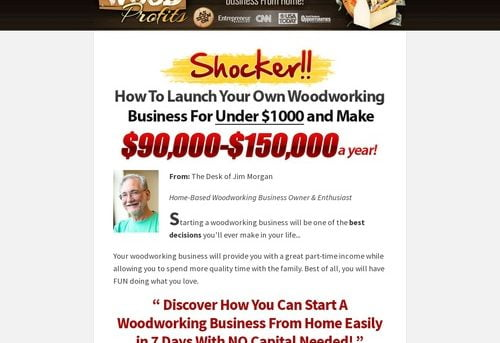 WoodProfits® How To Start A Profitable Woodworking Business From Home With No Capital In 7 Days or Less