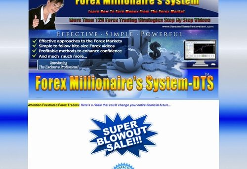 Forex millionaires' system-DTS.