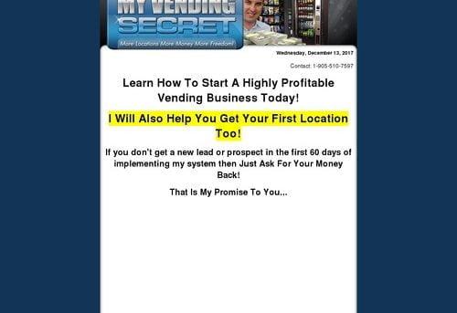 How To Start A Vending Machine Business - My Vending Secret