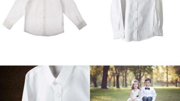 Born To Love - Wedding Baptism Birthday Boys White Button-Up Shirt …