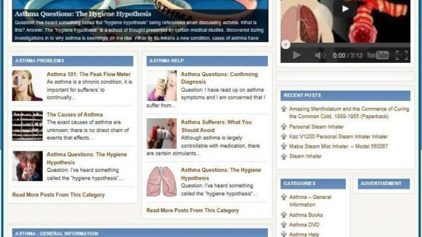 COMPLETE ASTHMA HELP WEBSITE BUSINESS FOR SALE! TARGETED SEO CONTENT INCLUDED