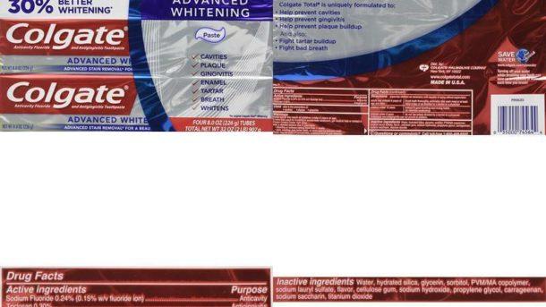 Colgate Total Advaned Whitening Toothpaste - 4 Tubes X 8 Ounces Per Tube = 32 Ou