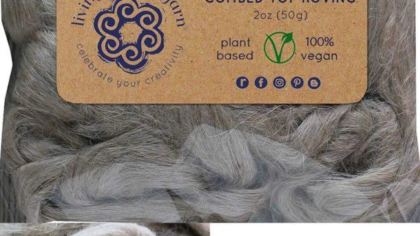 Flax Fiber For Spinning Blending And Fiber Arts. Natural Undyed Vegan Combed Top