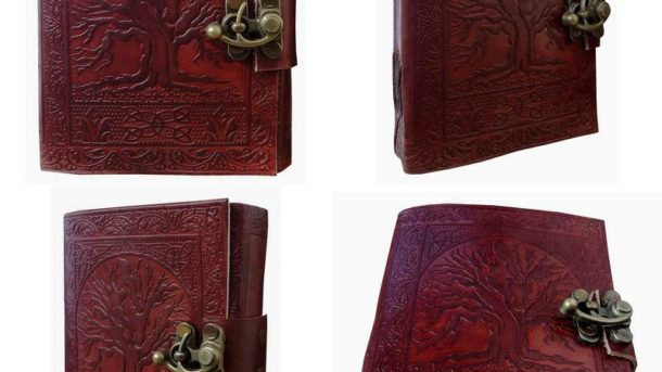 Gbag (T) Tree Of Life Journal Leather With C-Lock Notebook Gifts For Men Women