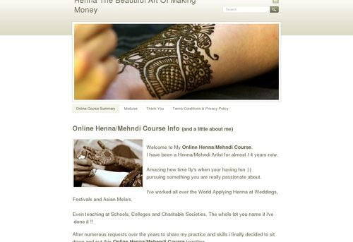 Henna The Beautiful Art Of Making Money - Henna Courses and Mehndi Courses Online.