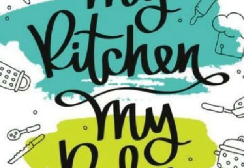 My Kitchen My Rules Blank Cookbook: Recipe Book | Journal, Notebook, Method  In