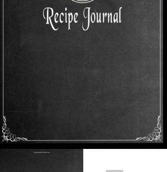 Recipe Journal: Blank Cookbook To Write In - Paperback (Blank Cookbooks And Reci