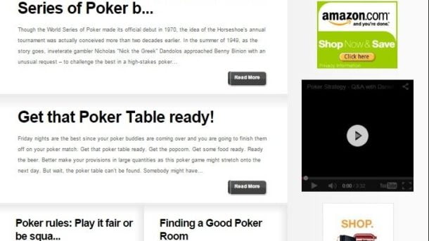 TEXAS HOLDEM POKER BLOG WEBSITE BUSINESS FOR SALE! TARGETED SEO CONTENT INCLUDED