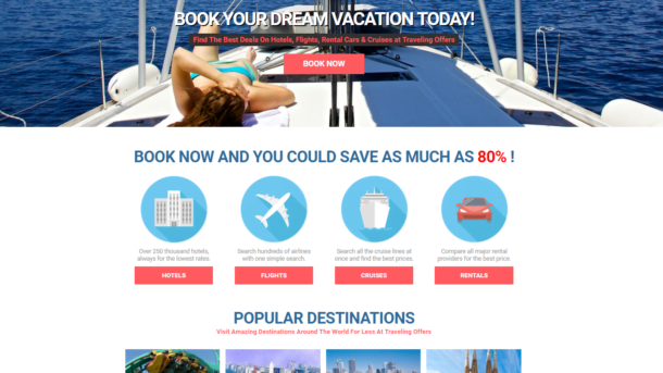 Turnkey TRAVEL Booking Site - Hotel,Flight,Cruise,Rental Car! Make $1-4 p/Lead