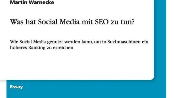 Was Hat Social Media Mit Seo Zu Tun? by Martin Warnecke (German) Paperback Book
