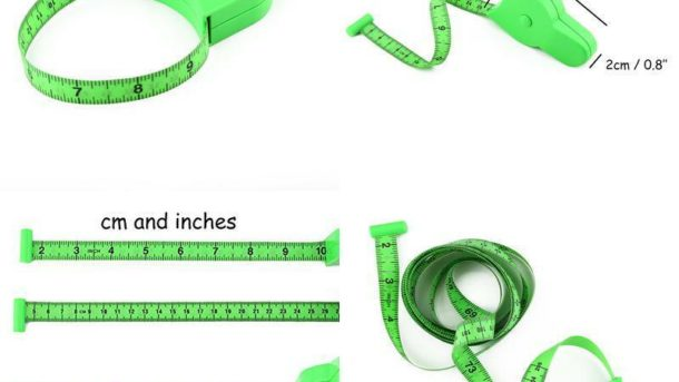 Wintape 80'' 205Cm Waist Body Tape Measure With Push Button, Measuring Waist And