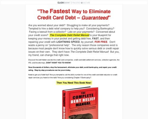 The Fastest Way to Eliminate Credit Card Debt   The Complete Debt Relief Manual