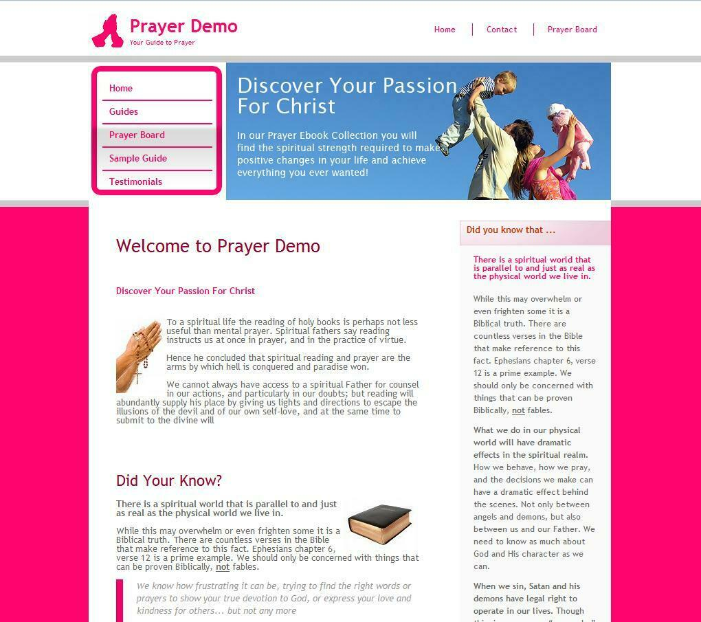 CHRISTIAN PRAYER STORE Affiliate Website Business For Sale Adsense Amazon Income