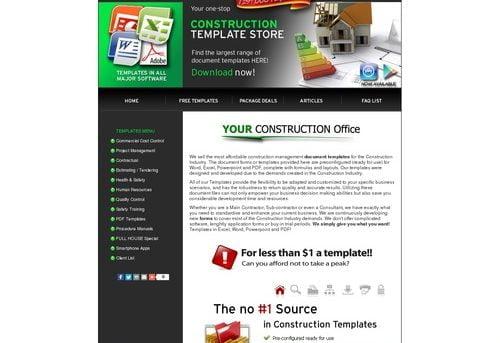 Construction Document Templates Store