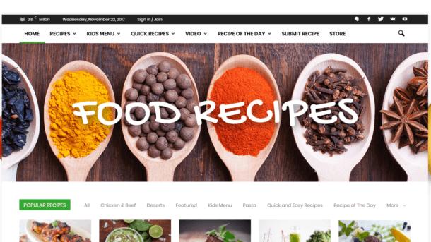 Established Profitable COOKING & RECIPES Food Business Turnkey Website For Sale