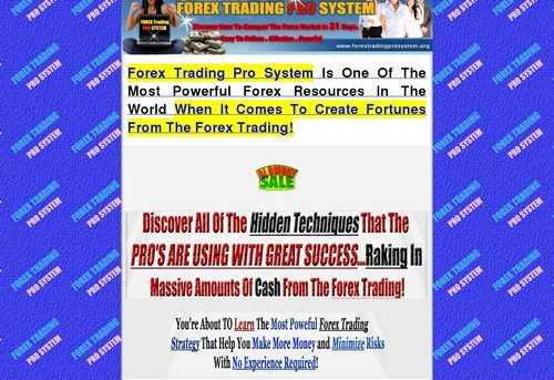 Forex Trading Pro System!