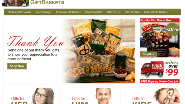 Gift basket turnkey website for sale - Established Domain & Website