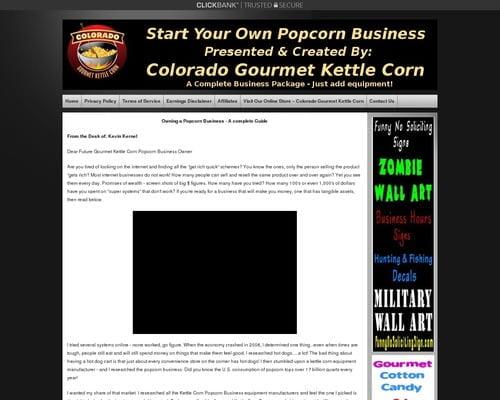 Popcorn Business - Make Gourmet Kettle Corn Popcorn