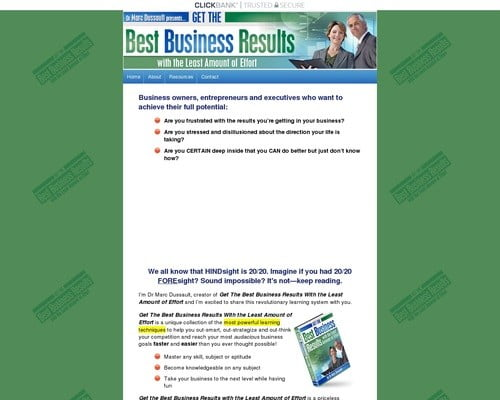 Speed Study Book - Get the Best Business Results With the Least Amount of Effort