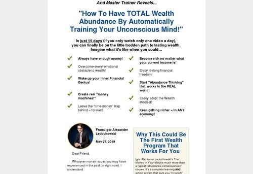 The Money In Your Mind