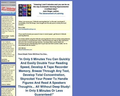 5 Minute Learning Machine: Doubling Your Power To Learn In Only 5 Minutes... Guaranteed