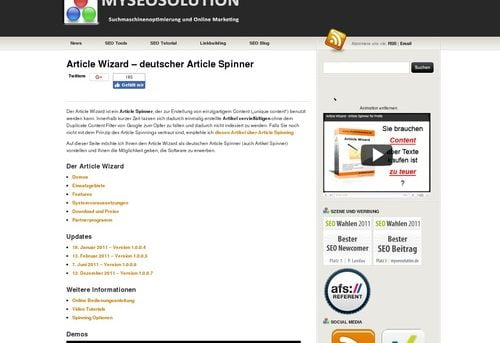 Article Wizard - Deutscher Article Spinner