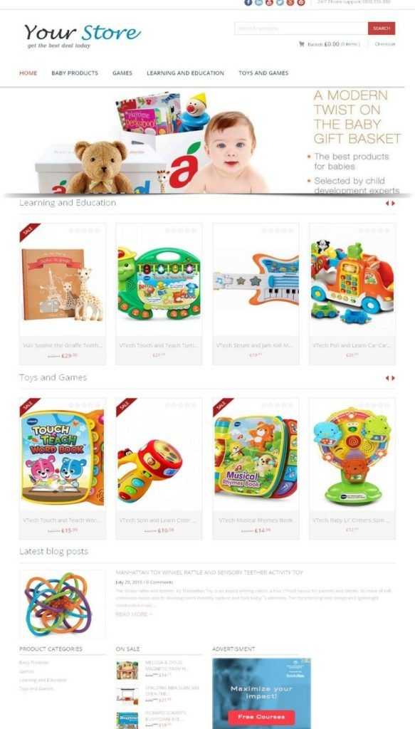 Baby Store Website - Amazon Affiliate Store on AutoPilot