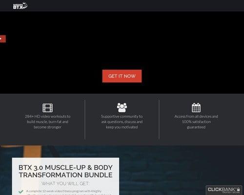 Barstarzzbtx - Body Transformation Extreme + Upsell/downsell Funnel
