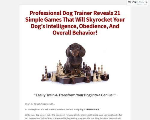 Brain Training For Dogs - Unique Dog Training Course! Easy Sell!