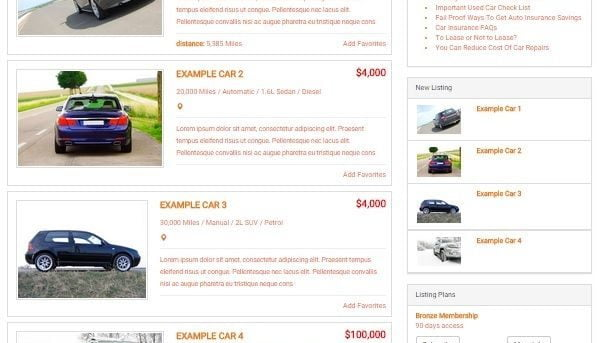 CAR TRADER WEBSITE BUSINESS FOR SALE! FULLY AUTOMATED! MOBILE FRIENDLY WEBSITE