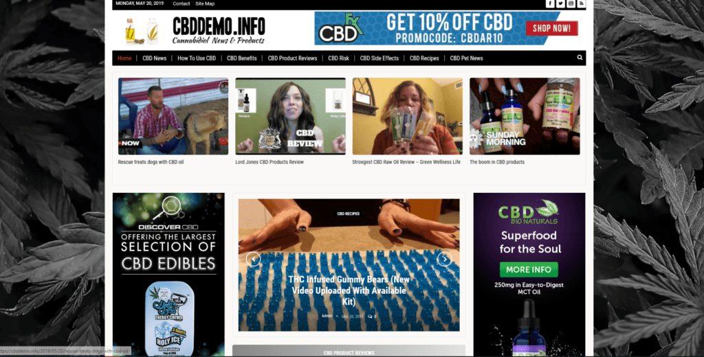 CBD Guides / Affiliate product website,100% automated -Premium designed-website