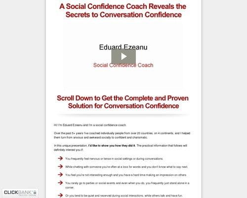 Conversation Confidence   Social Confidence Secrets