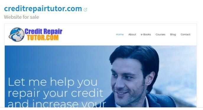 Credit Repair Website For Sale With A Premium Domain Name CreditRepairTutor.com