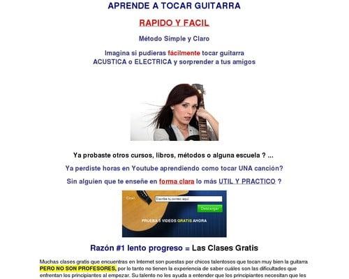 Cursos de Guitarra Para Principiantes-Clases en Video