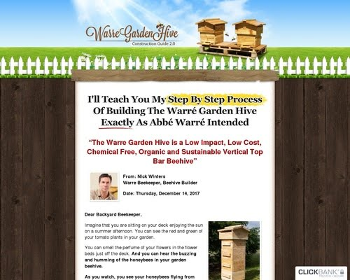 DIYBeehive.com | Build Your Own Warre Garden Backyard Top Bar Bee Hive