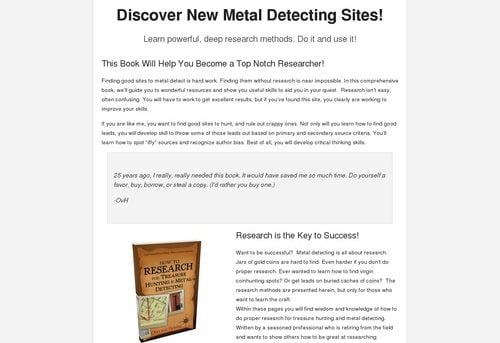 Discover New Metal Detecting Sites!