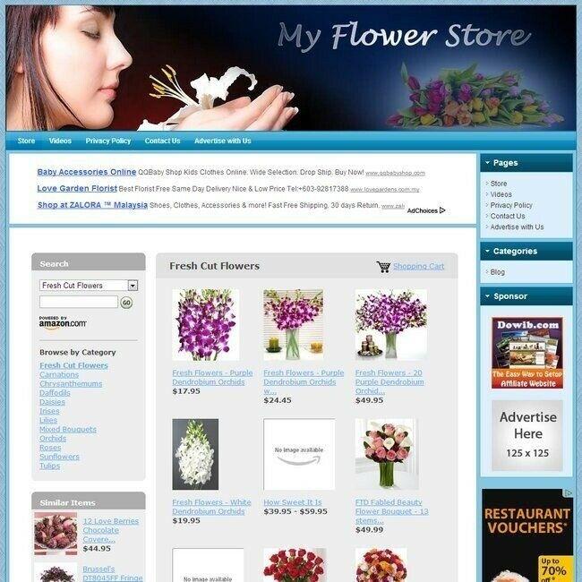 FLOWER & FLORIST STORE - Professionally Designed Affiliate Website -FREE Hosting