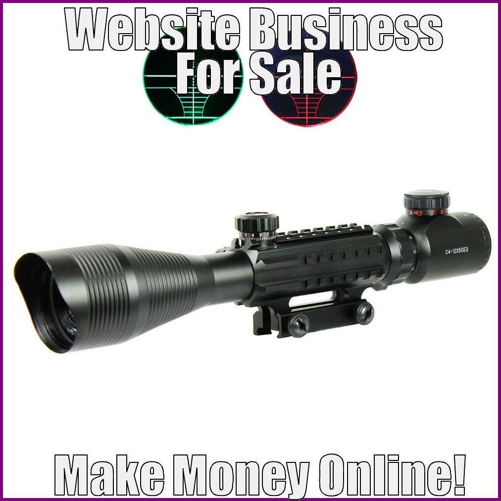 Fully Stocked RIFLESCOPES Website Business|FREE Domain|FREE Hosting|FREE Traffic