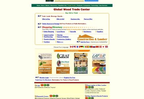 Global Timber and Wood Products Marketplace --- Lumber and Wood Products