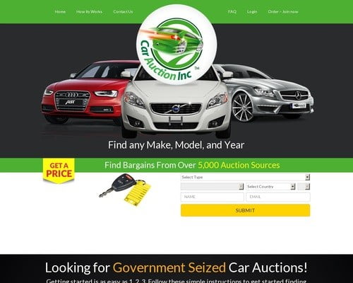 Government Seized Car Auctions - CarAuctionInc.com