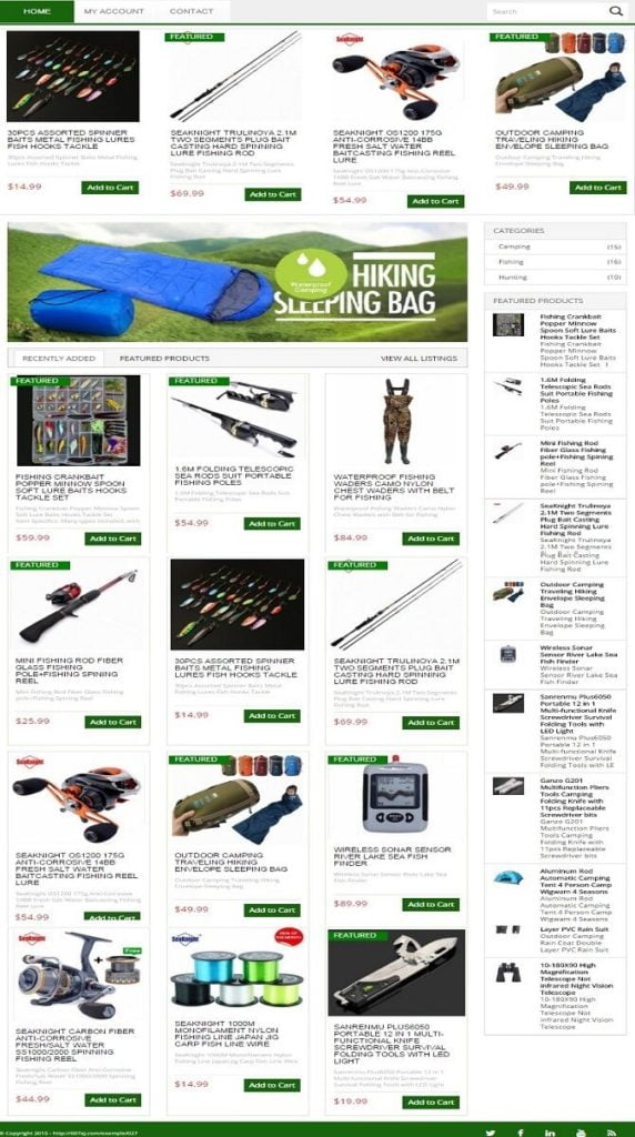 HUNTING, FISHING & CAMPING WEBSITE FOR SALE! FULLY AUTOMATED INTERNET BUSINESS
